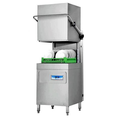 Hoonved CAP12EBT típusú ipari nagykonyhai átmenő rendszerű kalapos mosogatógép