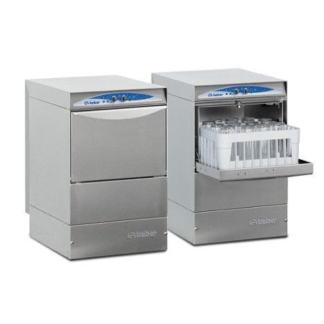 Lamber DSP1 DOS típusú, ipari- nagykonyhai pohármosogató gép, mosogatószer adagolóval