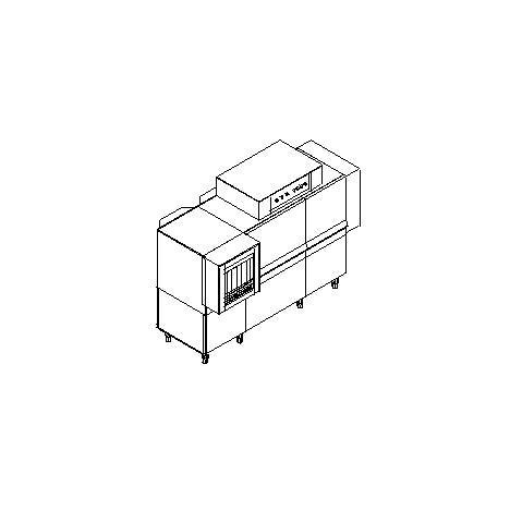 Matic49a típusú, ipari- nagykonyhai alagút rendszerű folyamatos üzemű mosogatógép