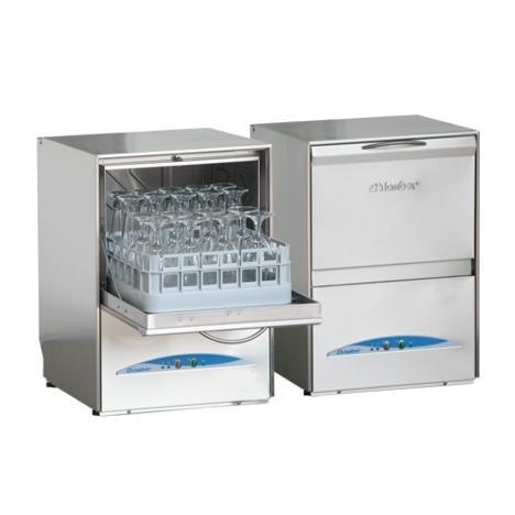 Minibar típusú, ipari- nagykonyhai pohármosogató gép