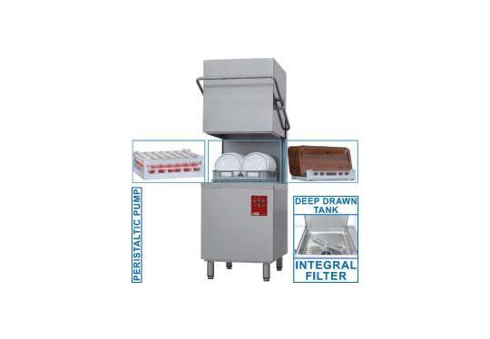 015-25D/6 típusú ipari, nagykonyhai, Tányér és pohármosogató gép