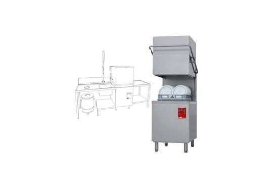 015/25D-NP/C-S típusú ipari, nagykonyhai, Tányér és pohármosogató gép