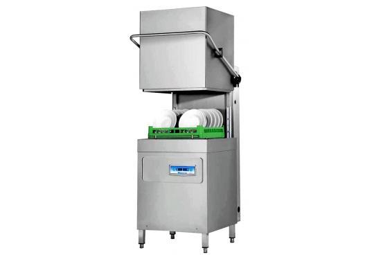 Hoonved CAP10E típusú ipari nagykonyhai átmenő rendszerű kalapos mosogatógép