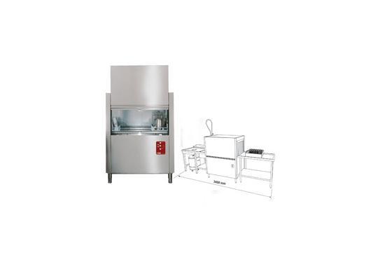 D115-EK/PROMO(GX) típusú ipari, nagykonyhai, Tányér és pohármosogató gép