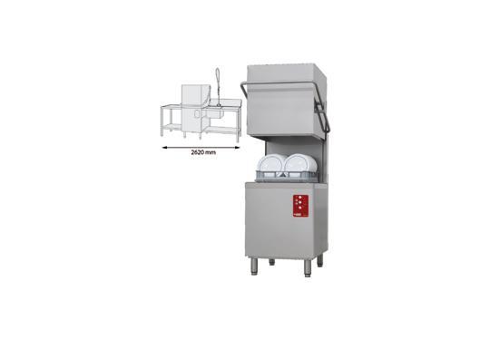 D26/EKS-NP/B-D típusú ipari, nagykonyhai, Tányér és pohármosogató gép