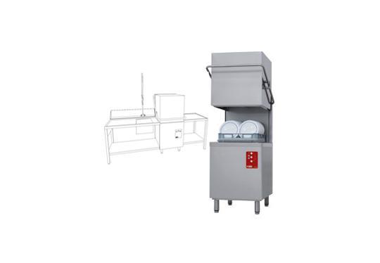 D26/EKS-NP/B-S típusú ipari, nagykonyhai, Tányér és pohármosogató gép