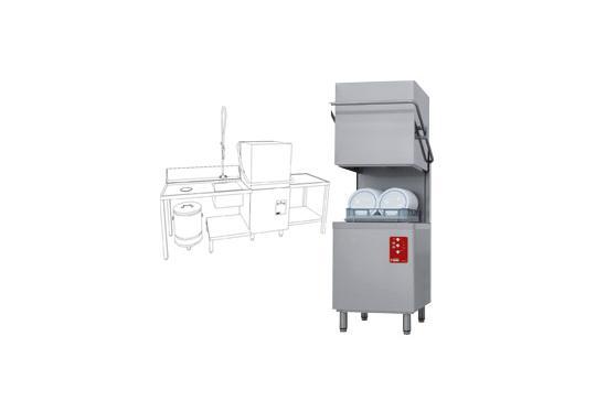 D26/EKS-NP/C-S típusú ipari, nagykonyhai, Tányér és pohármosogató gép
