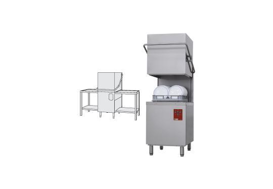 DK7/2-NP/AX típusú ipari, nagykonyhai, Tányér és pohármosogató gép