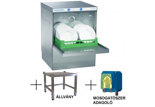 Hoonved HSP5 FULL állvány típusú ipari nagykonyhai tányér- és pohármosogatógép