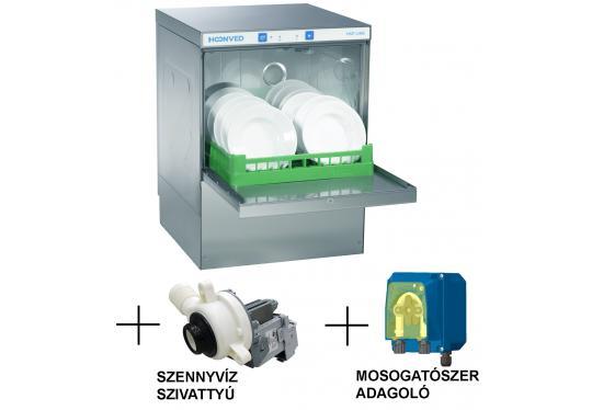 Hoonved HSP5 FULL pult alatti típusú ipari nagykonyhai tányér- és pohármosogatógép