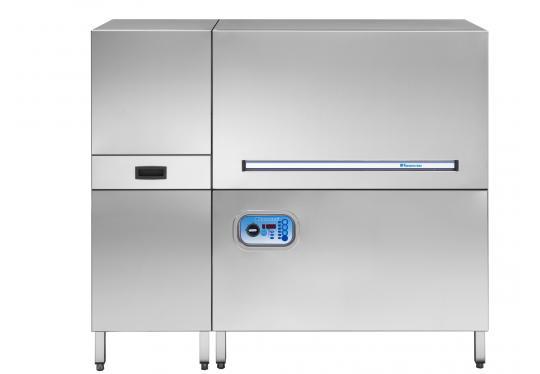 Hoonved HT150 típusú ipari nagykonyhai alagút rendszerű mosogatógép