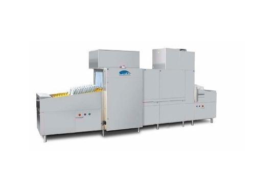 Linear30ekL típusú, ipari- nagykonyhai futószalagos rendszerű mosogatógép