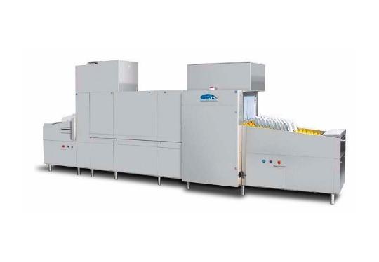 Linear40ekL típusú, ipari- nagykonyhai futószalagos rendszerű mosogatógép