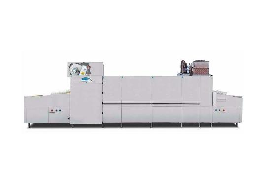 Linear60ekL típusú, ipari- nagykonyhai futószalagos rendszerű mosogatógép