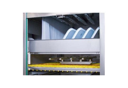 Linear80ekL típusú, ipari- nagykonyhai futószalagos rendszerű mosogatógép