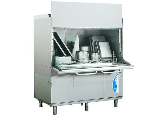 LP31ek típusú, ipari- nagykonyhai feketeedény mosogató gép, ládamosogató gép