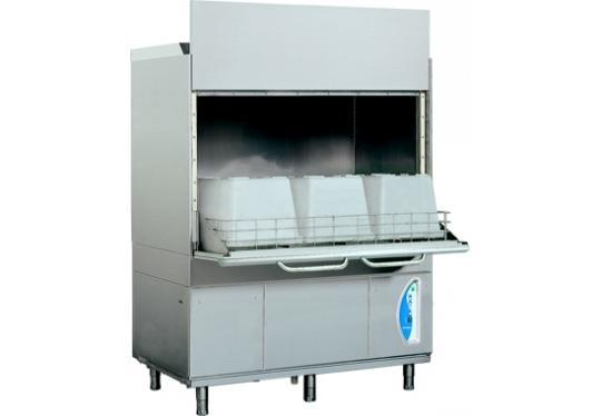 LP38Lek típusú, ipari- nagykonyhai feketeedény mosogató gép, ládamosogató gép
