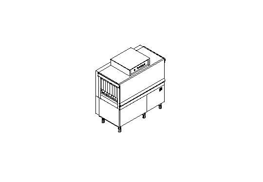 M130 típusú, ipari- nagykonyhai alagút rendszerű folyamatos üzemű mosogatógép