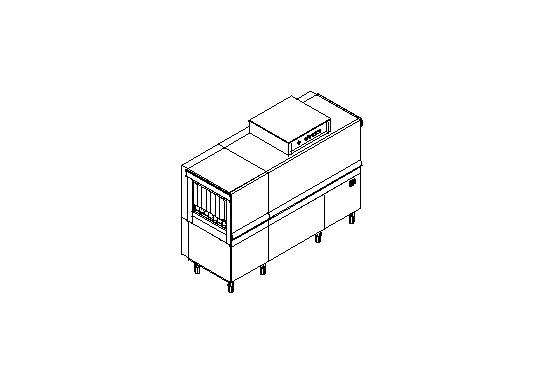 M180 típusú, ipari- nagykonyhai alagút rendszerű folyamatos üzemű mosogatógép