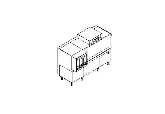 M180A típusú, ipari- nagykonyhai alagút rendszerű folyamatos üzemű mosogatógép