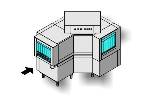Ma33 típusú, ipari- nagykonyhai alagút rendszerű folyamatos üzemű mosogatógép