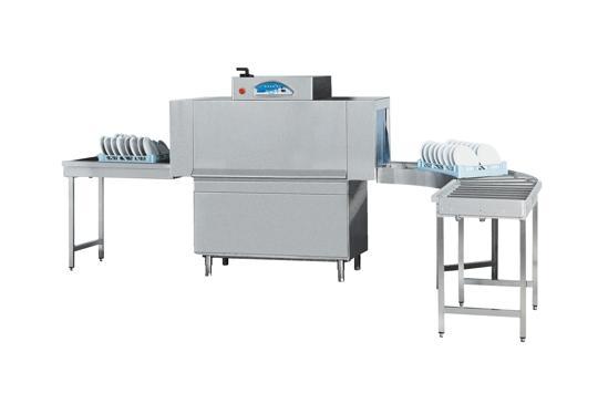 Matic 20 típusú, ipari- nagykonyhai alagút rendszerű folyamatos üzemű mosogatógép