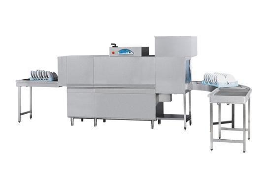 Matic33prc típusú, ipari- nagykonyhai alagút rendszerű folyamatos üzemű mosogatógép