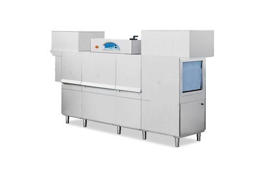 Matic49 típusú, ipari- nagykonyhai alagút rendszerű folyamatos üzemű mosogatógép