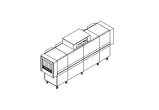 Matic59 típusú, ipari- nagykonyhai alagút rendszerű folyamatos üzemű mosogatógép