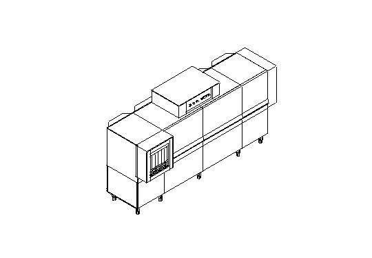 Matic59a típusú, ipari- nagykonyhai alagút rendszerű folyamatos üzemű mosogatógép