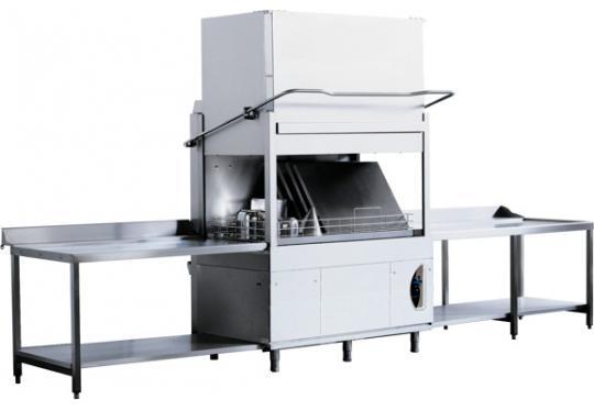 Lamber PT1500Ldy típusú, ipari- nagykonyhai feketeedény mosogató gép, ládamosogató gép