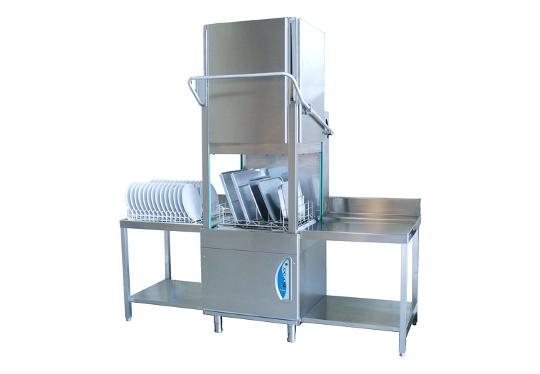 PT800dy típusú, ipari- nagykonyhai feketeedény mosogató gép, ládamosogató gép
