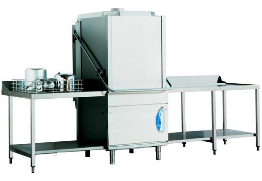 PT850Ldy típusú, ipari- nagykonyhai feketeedény mosogató gép, ládamosogató gép